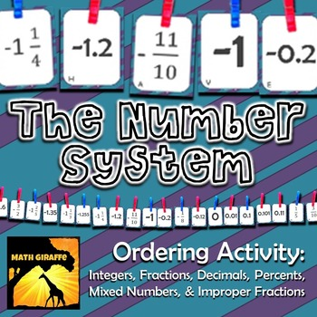 The Number System: Ordering Activity