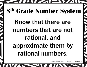 The Number System - Posters for All 8.NS Standards