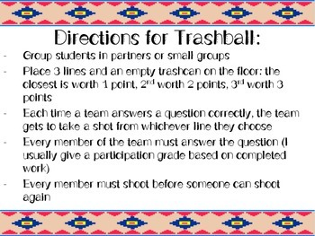 The Number System Review Game -- Trashball!