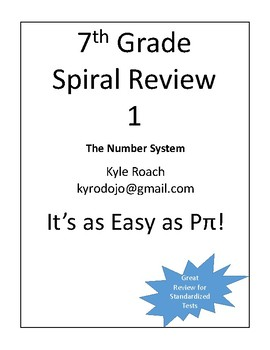 The Number System Spiral Review - 7th Grade