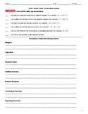 The Number System Study Guide