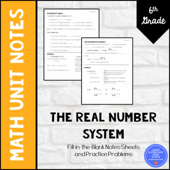 The Number System Unit Notes