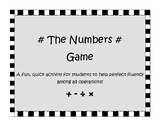 The Numbers Game -  Fluency Builder