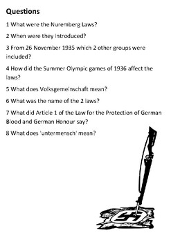 The Nuremberg Laws Handout - Nazi Germany