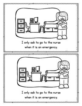 The Nurse at School: Kindergarten Mini-Reader