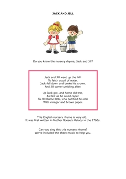The Nursery Rhyme Book of Music Lessons - includes Sheet Music