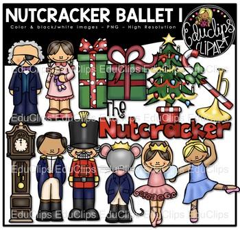 The Nutcracker Ballet 1 Clip Art Bundle {Educlips Clipart}