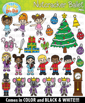 Nutcracker Christmas Tree Clipart.Nutcracker Ballet Clipart