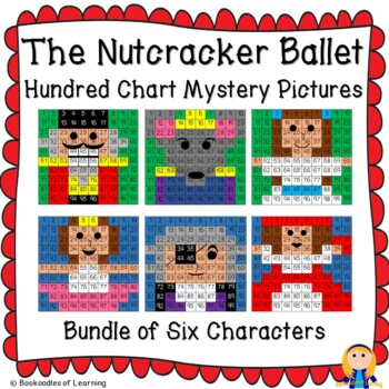 The Nutcracker Ballet Hundred Chart Mystery Pictures Bundle with Number Cards