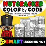 Nutcracker Color by Code Christmas Music Activity Note Rhythm Dynamics Tempo