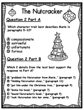 The Nutcracker EBSR Comprehension Question Sets with Writing Task