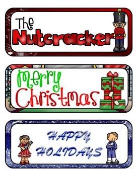 The Nutcracker Mini Fold-Ems and Writing Templates