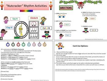 The Nutcracker: Say It, Clap It, Circle It, Color It: Rhythm Activities