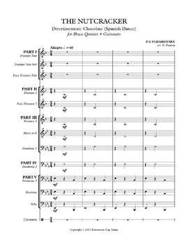 The Nutcracker Suite Divertissement:  Chocolate for Brass Quintet + Castanets