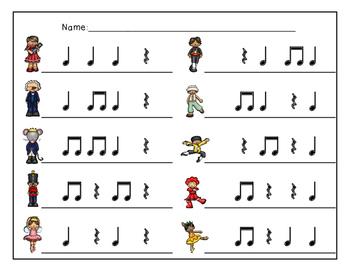 The Nutcracker, Write-the-Room Rhythm Activity: Ta Rest (Quarter Rest)