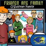 The O'Sullivans (Caucasian Friends and Family) 30 pc. Clip-Art Set