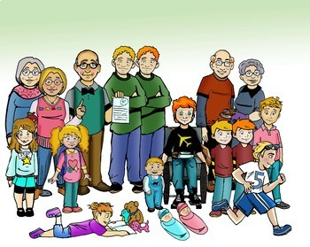 The O'Sullivans (Caucasian Friends and Family) 30 pc. Clip-Art Set