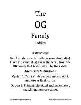 The OG Family Riddles