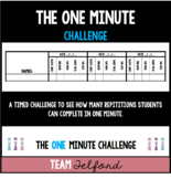 The ONE Minute Challenge