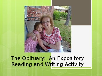 The Obituary:  A PowerPoint Presentation on an Expository Writing Form