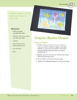 The Ocean: Art and Cooking Activities