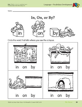 The Ocean: Language and Math Activities