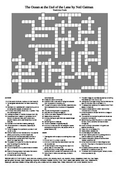 The Ocean at the End of the Lane - Vocabulary Puzzle