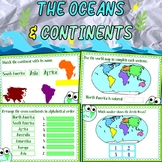 The Oceans and Continents BOOM cards for *Distance Learning*