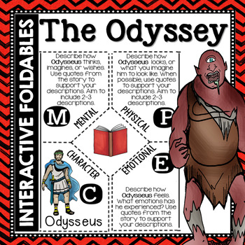 The Odyssey: Reading and Writing Interactive Notebook Foldable