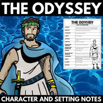 THE ODYSSEY NOVEL STUDY UNIT CHARACTER AND SETTING