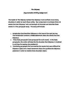 Essay Thesis Statement Examples The Odyssey Argumentative Essay Research Proposal Essay also Reflection Paper Example Essays The Odyssey Argumentative Essay By Griggs And Weston  English Teachers Macbeth Essay Thesis