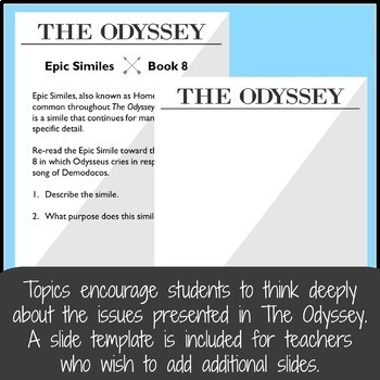 The Odyssey Bell Ringers, Entry Tasks, or Journal Entries for High School