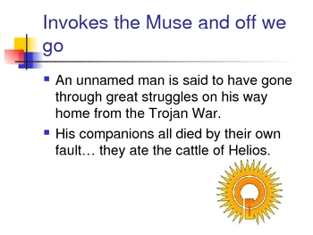 The Odyssey Book 1 Powerpoint