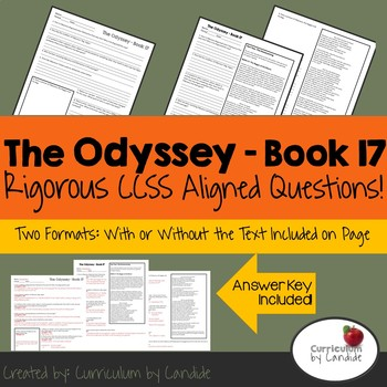 The Odyssey Book 17 - CCSS Aligned Questions (& Answer Key)