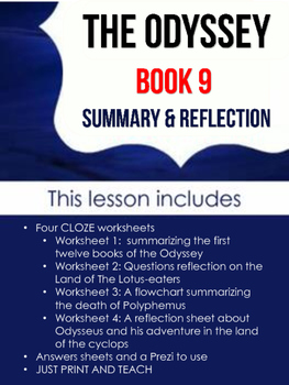 The Odyssey: Book IV Activities (Lotus-Eaters and Cyclops summary)
