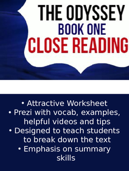 The Odyssey Book One: Close Reading
