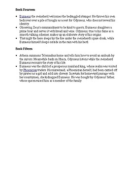 The Odyssey Books 11-15 Summaries