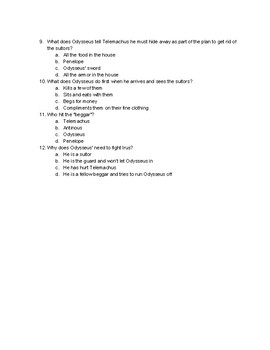 The Odyssey Books 14-18 Quiz