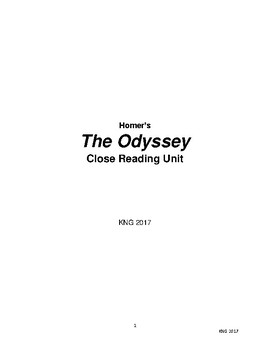 The Odyssey Close Reading Unit