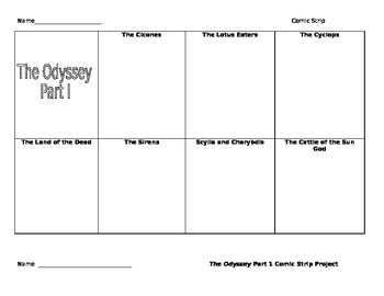 The Odyssey Comic Strip Assignment