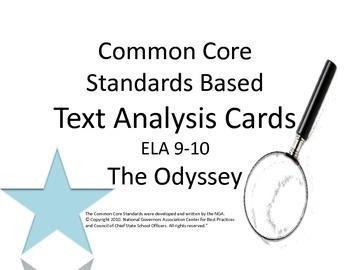 The Odyssey Literary Analysis Task Cards : CCSS : ELA 9-10