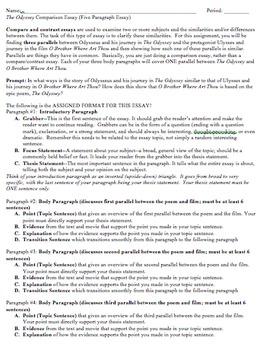 The Odyssey Comparison Essay