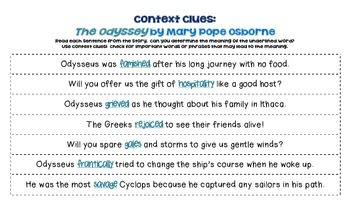 The Odyssey: Context Clues