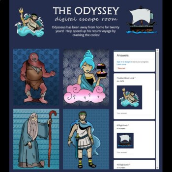 The Odyssey Digital Lock Box Escape Room Game