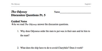 The Odyssey Discussion Questions