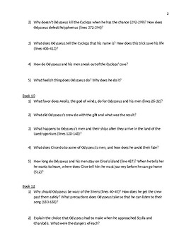 Critical thinking questions on the odyssey   Buy A Essay For Cheap Teachers Pay Teachers The Odyssey Literature Group Discussion Questions