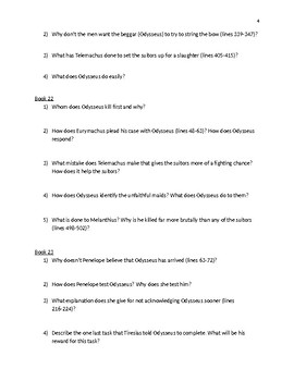 The Odyssey Discussion Questions by Megan Altman   TpT Odyssey critical thinking questions on the odyssey  essay examples download