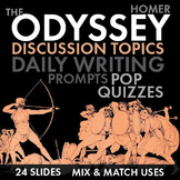 Odyssey, Homer, Discussion Starters, Pop Quizzes, Writing Tasks for Full Unit