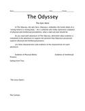 The Odyssey, Epic hero worksheet