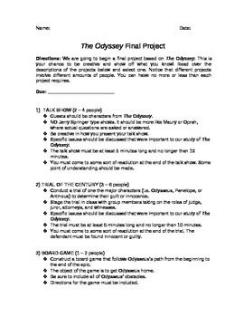 The Odyssey Final Project